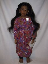 """Beautiful 27"""" Doll Children Of The World By Renate Hockh"""