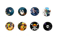 Anime Badges / Attack on Titan, Sword Art Online, One Piece