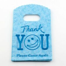"""Jewelry Pouches.50pcs 9X15cm Blue """"thank you""""  Plastic Bags Jewelry Gift Bag"""