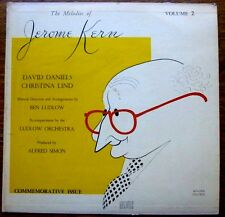 MELODIES of JEROME KERN Vol.2 1955 HIRSCHFELD Art Cover NM OC LP David Daniels