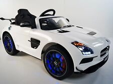 MERCEDES SLS For Kids Model SX128 (Sport) Ride On Car With Control Parents White