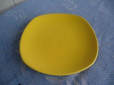 vintage wembley ware bright yellow dinner plate Australian pottery