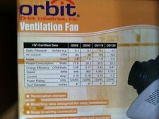 Orbit OD90 90CFM Deluxe Ventilation Fan 1.0 Sone