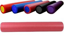 BodyRip Pink Grid Foam Massage Roller 90Cm Fitness Rehab Pilates Yoga Exercise