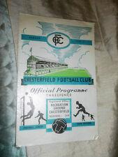 1960/1 DIV 4 CHESTERFIELD V BOURNEMOUTH