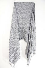 LADIES UNIQUE GREY LEOPARD PRINT CONTEMPORARY DESIGN BOLD SCARF(MS41PT4)