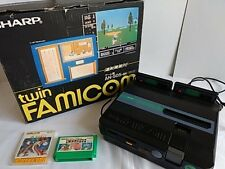 Excellent SHARP TWIN FAMICOM console AN-505-BK games,Boxed Set/Tested-Q-