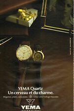 Publicité Advertising 1981  Montre YEMA QUARTZ  ...