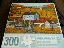 "300 Piece Joseph Holodook:Art Puzzle ""Half Moon Mill"" New 18""x 24""  Large Pieces"