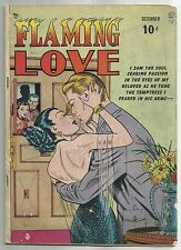 FLAMING LOVE #1 (Bill Ward Art, Racy Pre-Code Romance Storires) Quality, 1949