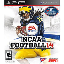 NCAA Football 14 (Sony PlayStation 3, 2013) COMPLETE GAME PS3 College Rare!