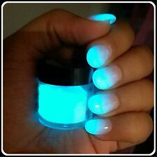 HOT! GLOW IN THE DARK POWDER for acrylic nails 10gr glow in daylight too