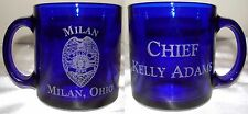 Police Personalized Laser Engraved Glass Coffee Cup