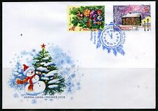 2015 Belarus Happy New Year! Merry Christmas! FDC