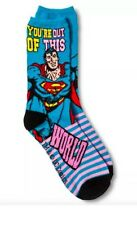 "NWT DC Comics ""You're Out Of This World"" Superman Ladies Socks Blue Valentines"