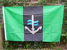 Royal Marines Commando/SBS New Famous Green Beret Badge On Military Colours Flag