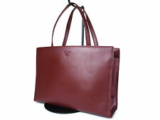 Authentic PRADA Leather Red Hand Bag PH0084