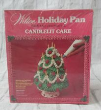 Vintage 1979 Wilton 3D Stand Up CandleLit Christmas Tree Cake Pan Holiday NEW