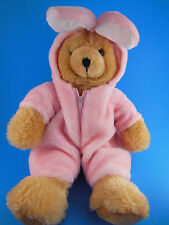 """Kids Of America 15"""" Teddy Bear In Removable Easter Bunny Suit Outfit"""