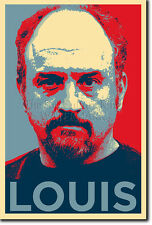 Louis CK art photo print 2 (OBAMA HOPE Parodie) Poster Cadeau Louie C. K.