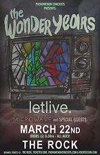 THE WONDER YEARS / LETLIVE. / MICROWAVE 2016 TUCSON CONCERT TOUR POSTER