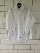 URBAN VINTAGE RETRO LONG SLEEVED RALPH LAUREN WHITE CASUAL SHIRT #34