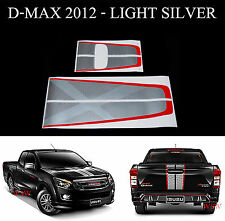 SILVER RED FRONT REAR TAILGATE STICKER X-SERIES FOR ISUZU D-MAX DMAX 2012-2015