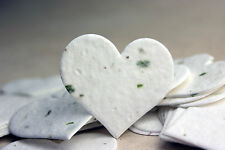 Green Heart Shape Plantable Flower Seed Chard Paper Wedding Memorial Favors