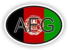 AFG AFGHANISTAN Autocollant OVAL avec drapeau Voiture Caravane Pare-choc Casque
