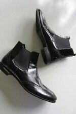 $650 Prada 9.5 Men's Spazzolato Soft Wing Tip Perforated Polished Chelsea Boot