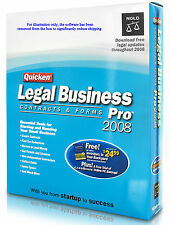 Quicken Legal Business Contracts/Forms Pro 2008 +5 business best sellers Vista