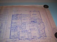 Vintage Custom Home Design House Plan 2634 Sq Ft AC, Real Paper Blue Print