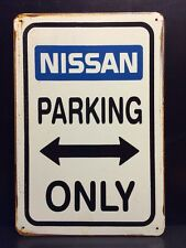 Nissan Parking Only Metal Sign / Vintage Garage Wall Decor (30 x 20cm)