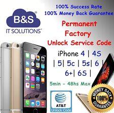 PREMIUM FACTORY UNLOCK CODE SERVICE AT&T IPHONE 6 6+ 6S plus 3 4 4S 5 5S 5C ATT
