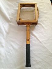 Vintage Harry C Lee Wooden Tennis Racquet With Cover