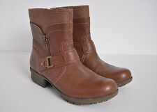 Clarks Riddle Avant Tan Brown Leather Ankle Boots Women's size 6.5 EUC