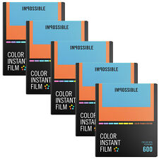5 Impossible Instant Color Film Color Frames for Polaroid 600 type cameras 4522