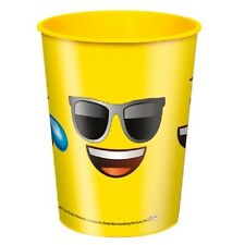 Emoji Icons Smiling Winking Tears Face Favor Plastic 16 Ounce Cup Party Supplies