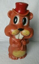 VINTAGE RELIABLE CANADA PLASTIC BEAVER STILL BANK TOY