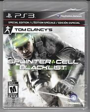 TOM CLANCY'S SPLINTER CELL BLACKLIST SPECIAL EDITION NEW & SEALED SONY PS3