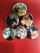 "1.25"" Lady Gaga pin back button set of 6"
