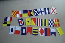 Nautical Boat Signal Code Bunting Flag Banner - String of 26 - LENGTH 11 FEET