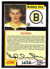 "BOBBY ORR 91/92 SCORE ""THE ROOKIE"" CERTIFIED AUTO AUTOGRAPH /2500 *BOSTON DRUINS"