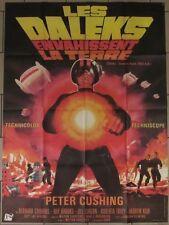 LES DALEKS ENVAHISSENT LA TERRE affiche film 120x160 cm LANDI 1966