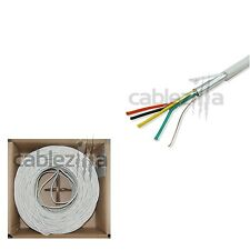 18/4 Gauge AWG 500ft Alarm Security Wire Cable Stranded Conductor Shielded Bulk