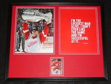 Brett Hull Signed Framed 16x20 Photo Set Red Wings