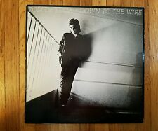 TOM DE LUCA  DOWN TO THE WIRE Excellent Vinyl LP VG + Record Cover. PROMO