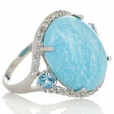 HERITAGE GEMS STERLING SILVER WHITE CLOUD TURQUOISE RING SIZE 8 HSN SOLD OUT