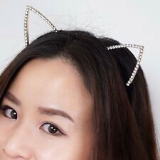 Womem Jewelry Kitty Cat Ears Headband Costume Fur Anime Neko Cosplay Hairband
