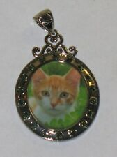RARE WILLABEE AND WARD MARCH CAT  PENDANT WITH SWAVORSKI CRYSTALS